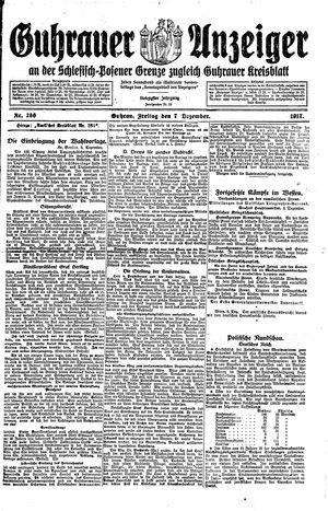 Guhrauer Anzeiger an der Schlesisch-Posener Grenze vom 07.12.1917