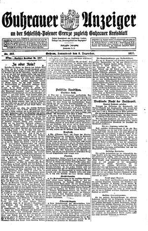 Guhrauer Anzeiger an der Schlesisch-Posener Grenze vom 08.12.1917