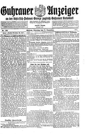 Guhrauer Anzeiger an der Schlesisch-Posener Grenze vom 11.12.1917