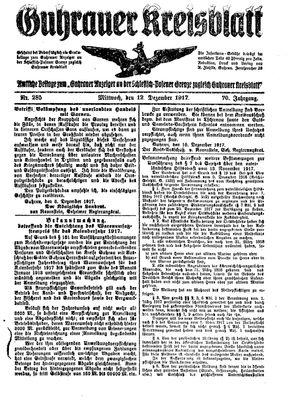 Guhrauer Anzeiger an der Schlesisch-Posener Grenze vom 12.12.1917