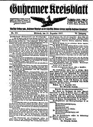 Guhrauer Anzeiger an der Schlesisch-Posener Grenze vom 19.12.1917