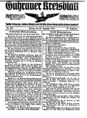 Guhrauer Anzeiger an der Schlesisch-Posener Grenze on Dec 28, 1917