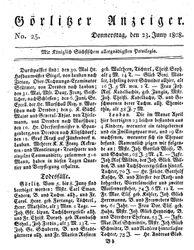 Görlitzer Anzeiger (23.06.1808)
