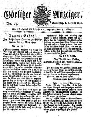 Görlitzer Anzeiger vom 01.06.1809