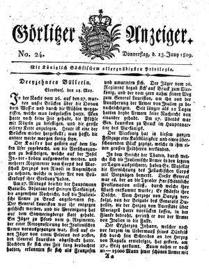 Görlitzer Anzeiger on Jun 15, 1809