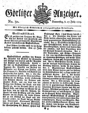 Görlitzer Anzeiger on Jul 27, 1809