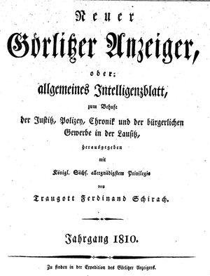 Görlitzer Anzeiger on Jan 1, 1810