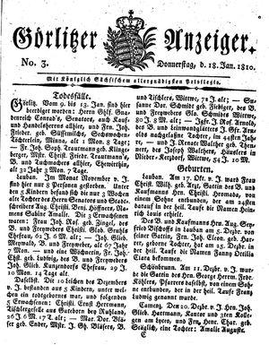 Görlitzer Anzeiger on Jan 18, 1810