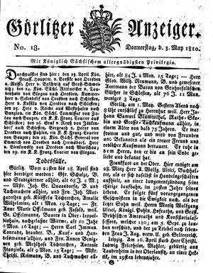 Görlitzer Anzeiger vom 03.05.1810