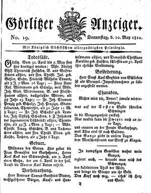 Görlitzer Anzeiger vom 10.05.1810
