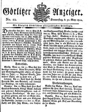 Görlitzer Anzeiger vom 31.05.1810