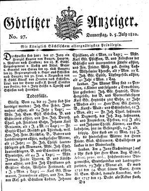 Görlitzer Anzeiger vom 05.07.1810