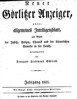 Görlitzer Anzeiger vom 01.01.1811