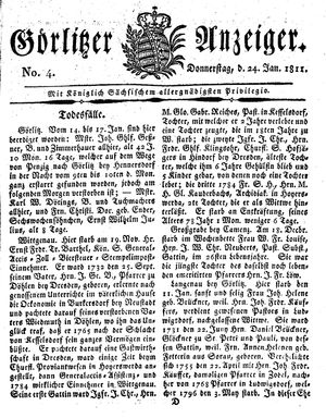 Görlitzer Anzeiger vom 24.01.1811