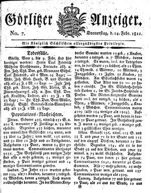 Görlitzer Anzeiger vom 14.02.1811
