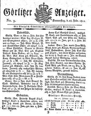 Görlitzer Anzeiger vom 28.02.1811