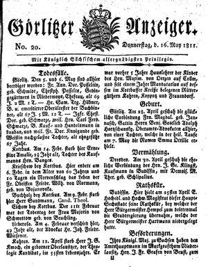 Görlitzer Anzeiger vom 16.05.1811