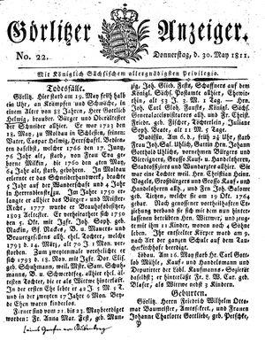 Görlitzer Anzeiger vom 30.05.1811