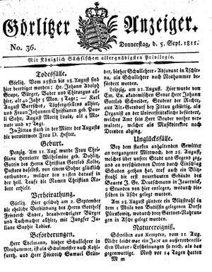 Görlitzer Anzeiger vom 05.09.1811