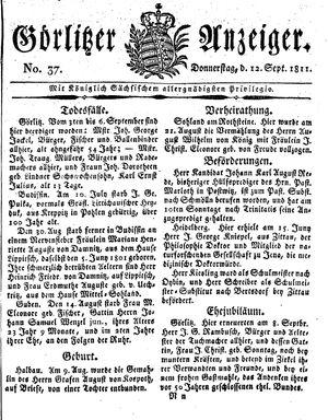 Görlitzer Anzeiger vom 12.09.1811