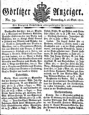 Görlitzer Anzeiger vom 26.09.1811