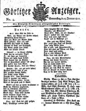 Görlitzer Anzeiger vom 23.01.1812
