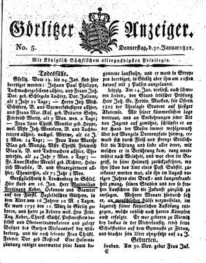 Görlitzer Anzeiger vom 30.01.1812