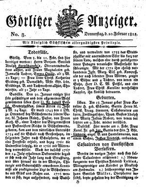 Görlitzer Anzeiger vom 20.02.1812