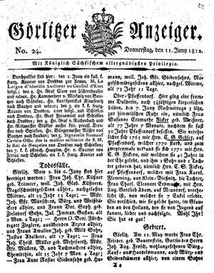 Görlitzer Anzeiger on Jun 11, 1812