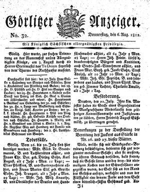 Görlitzer Anzeiger vom 06.08.1812