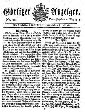 Görlitzer Anzeiger vom 20.05.1813