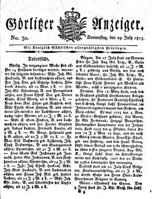 Görlitzer Anzeiger vom 29.07.1813