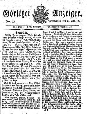 Görlitzer Anzeiger vom 19.08.1813