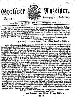 Görlitzer Anzeiger vom 09.12.1813