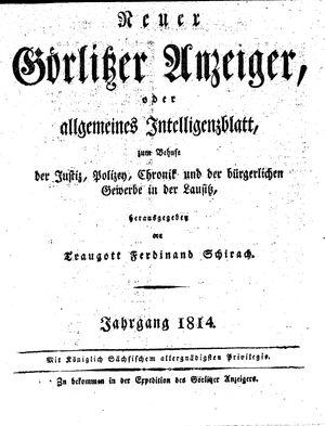 Görlitzer Anzeiger vom 01.01.1814