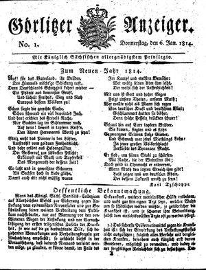 Görlitzer Anzeiger vom 06.01.1814