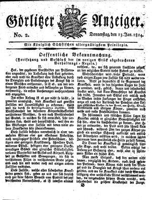 Görlitzer Anzeiger vom 13.01.1814