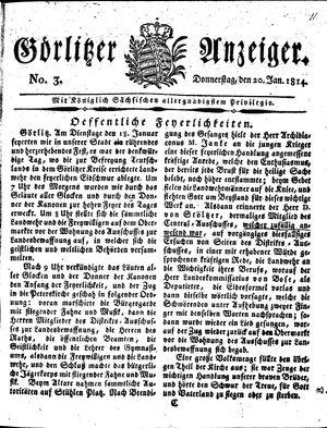 Görlitzer Anzeiger vom 20.01.1814
