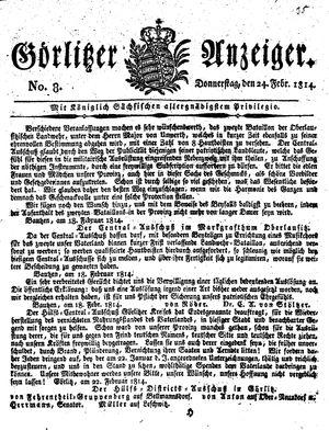 Görlitzer Anzeiger vom 24.02.1814