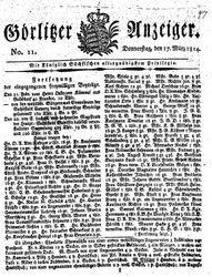 Görlitzer Anzeiger (17.03.1814)
