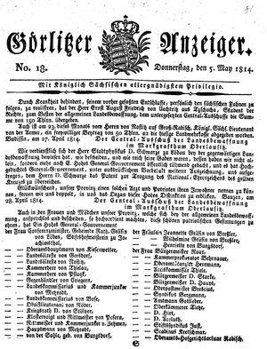 Görlitzer Anzeiger vom 05.05.1814