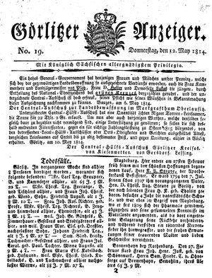 Görlitzer Anzeiger vom 12.05.1814