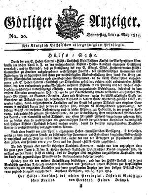 Görlitzer Anzeiger vom 19.05.1814