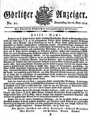Görlitzer Anzeiger vom 26.05.1814