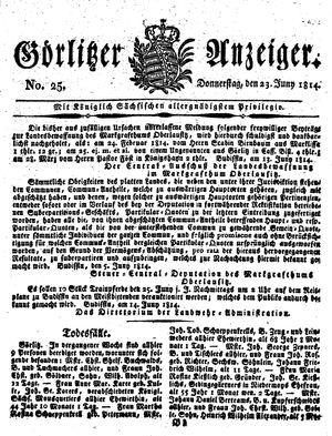 Görlitzer Anzeiger vom 23.06.1814
