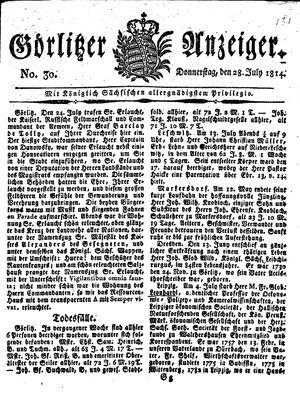 Görlitzer Anzeiger vom 28.07.1814