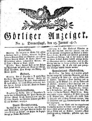Görlitzer Anzeiger on Jan 23, 1817