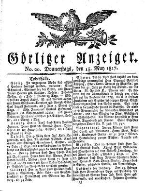 Görlitzer Anzeiger vom 15.05.1817
