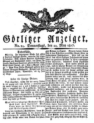 Görlitzer Anzeiger vom 22.05.1817