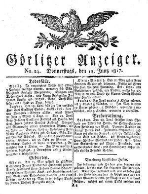 Görlitzer Anzeiger vom 12.06.1817